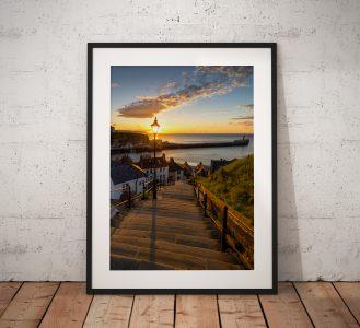 Whitby Steps Sunset