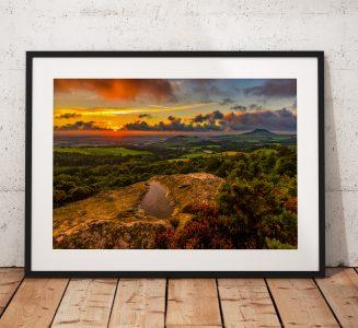 Gribdale Puddle Sunset