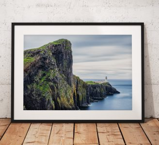 Isle of Skye Landscape photo, Neist Point, Lighthouse, Scotland,  Scottish Highlands,  Dramatic, Coast, Wall Art