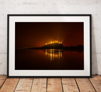 Northumberland Landscape Photography, Bamburgh Castl , England. Landscape Photo. Mounted print. Wall Art.